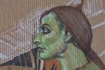 Alexandria-Lingerie-Warrior-Oil-Pastel-Cardboard