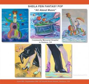 "Sheila Fein Fantasy Pop juried show ""All About Music"""