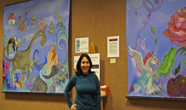 Sheila Fein Fantasy Pop with her first Interactive paintings