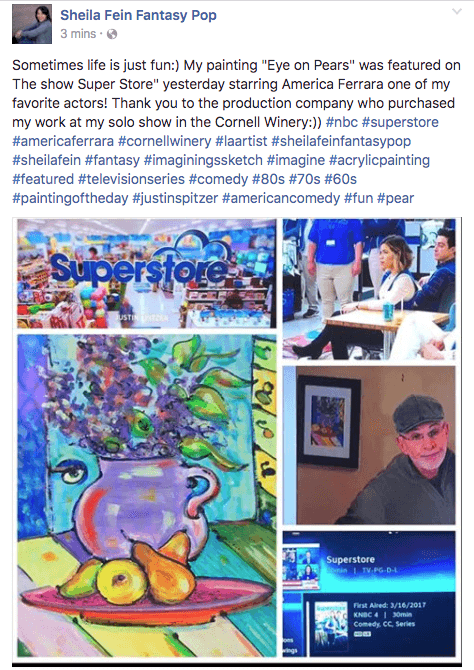 Sheila Fein Fantasypop Art Featured on the Show Superstore